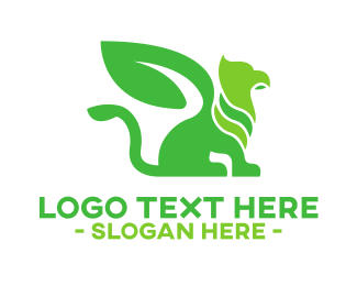 Gargoyle - Green Natural Griffin logo design
