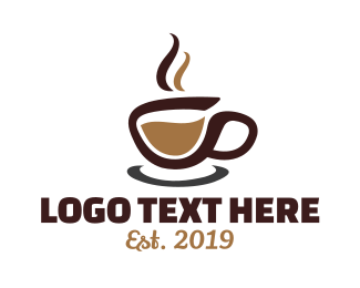 Illustrative - Abstract Coffee Cup Stroke  logo design