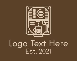 Coffee Stand - Coffee Maker Machine  logo design