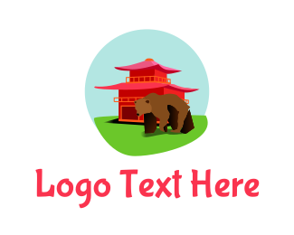 Asia - Asian Bear logo design