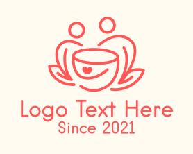 Date - Coffee Date Line Art logo design