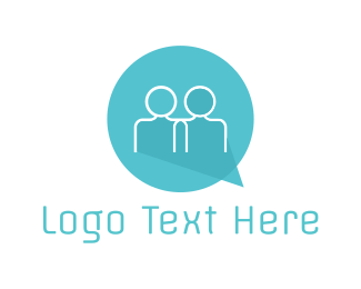 Speak - Social Talk logo design