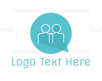 Social - Social Talk logo design