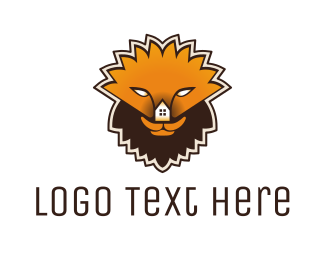 Realty Agent - Lion House logo design