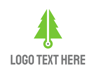 Pine - Pine Tech logo design