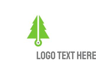 Pine - Pine Tech logo design