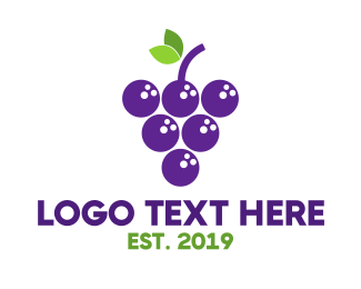 Grape - Bowling Grapes logo design