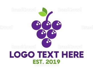 Winery - Bowling Grapes logo design