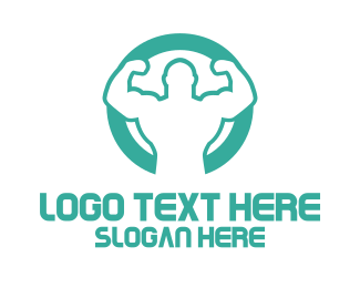 Bodybuilder - Strong Man logo design
