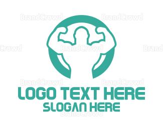 Better - Strong Man logo design