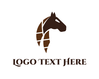 Horse Brand - Abstract Horse logo design