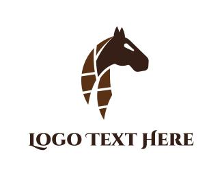 Pony - Abstract Horse logo design