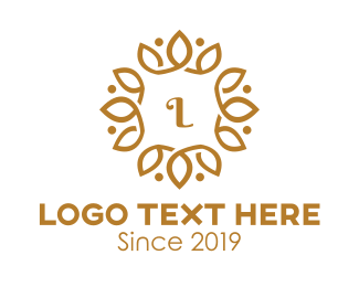 Golden - Golden Wreath logo design