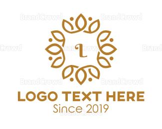Makeup Artist - Golden Wreath logo design