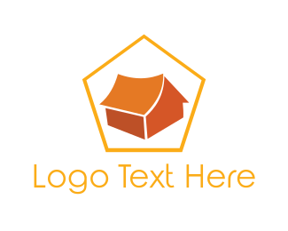 Glamping - Orange Tent logo design