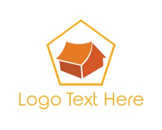Cabin - Orange Tent logo design