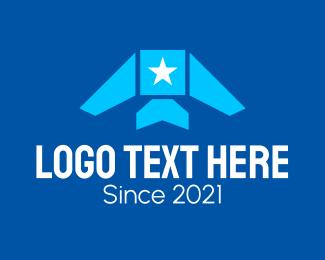 Aviation - Star Airplane Aviation logo design