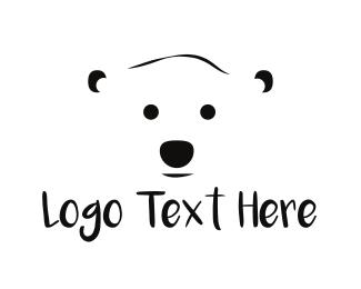 Antarctica - White Polar Bear logo design