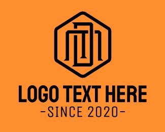 Sd - Hexagonal Monogram M & D logo design