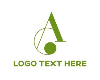 Curved - Cursive Letter A logo design