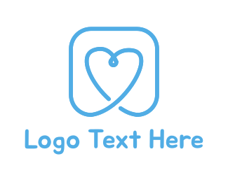 Friendship - Blue Heart logo design