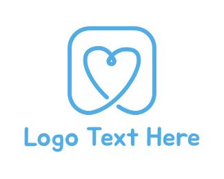 Romance - Blue Heart logo design