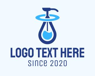 Lotion - Blue Liquid Sanitizer logo design
