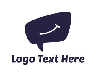 Hello - Smile Bubble logo design