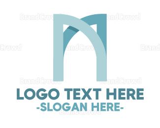Gate - Modern Letter M  logo design