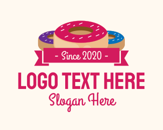 Donut Shop - Doughnut Sweets logo design
