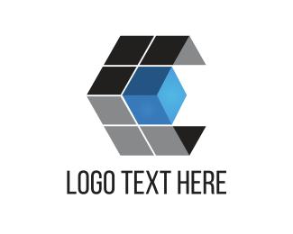 Square - Tech Cube logo design