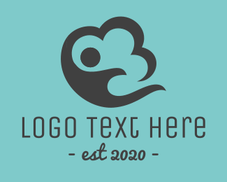 Foundations - Cloud Person logo design