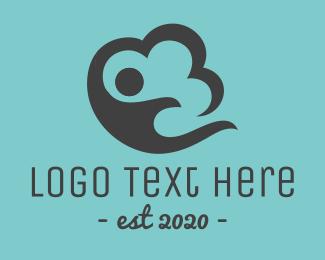 Data - Cloud Storage logo design