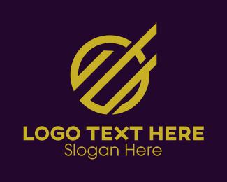 Letter O - Bar Graph Letter O logo design