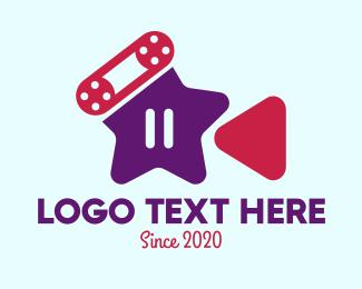 Youtube Star - YouTube Video Star  logo design