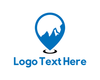 Climb - Mountain Locator logo design