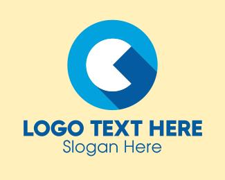 Pacman - Game Letter C logo design