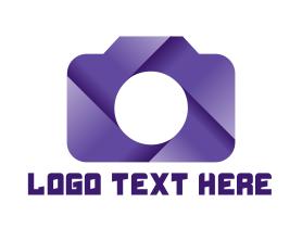 Violet Shutter Camera Logo
