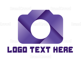 Cameraman - Violet Shutter Camera logo design