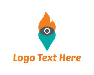 Torch - Fire Eye logo design