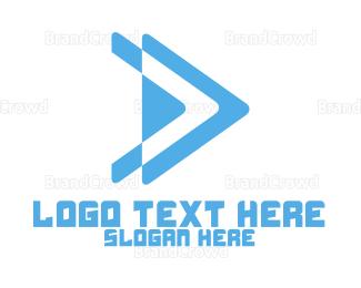 Right - Forward Arrow logo design
