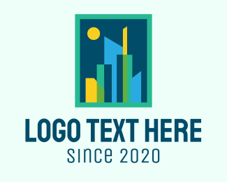 Urban Planner - Geometric Urban City  logo design