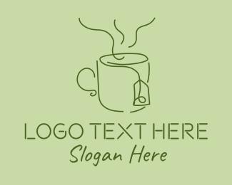 Tea - Green Tea Cup logo design