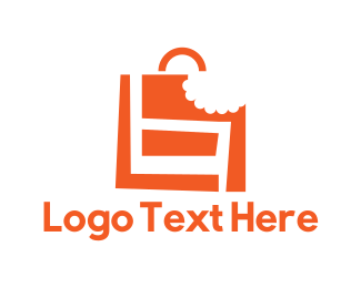 Shopping Bag - Bag Bite logo design