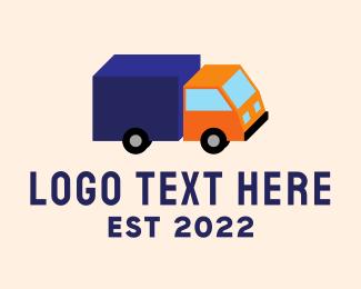 Cargo Shipping - Isometric Cargo Truck logo design