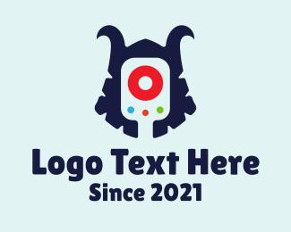 Technology - Gaming Helmet Armor logo design