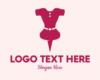Dress - Pink Dress Pin  logo design