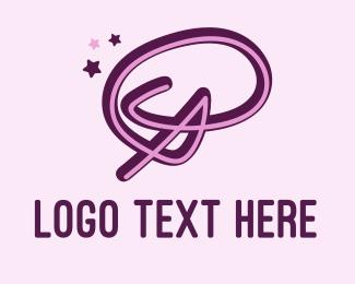Letter P - Star Letter P logo design