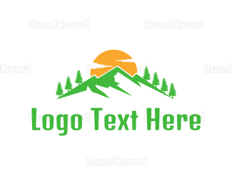 Ecosystem - Abstract Green Mountain logo design