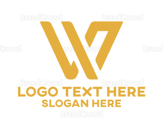 Corporation - Golden Stylish Letter W logo design